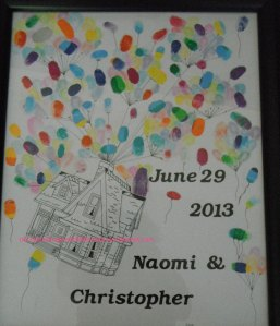 wedding, thumbprint, custom
